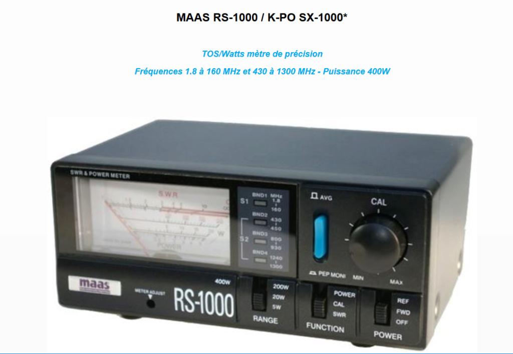 MAAS RS 600  Tosmètre - Wattmètre  Maas_r12