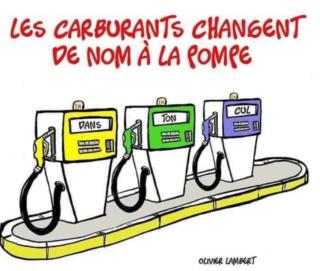 Nouvelle appellation des carburants Carbur12