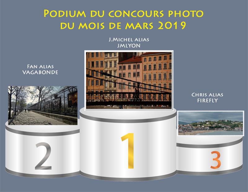 """Concours photo du mois de mars 2019 - Thème : """"Que c'est beau une ville..."""" (terminé) Podium19"""