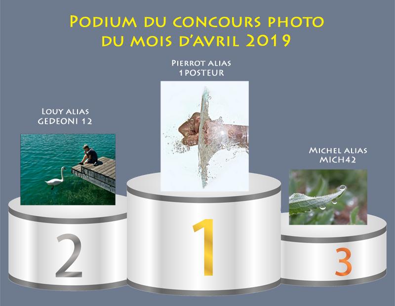 """Concours photo du mois d'avril 2019 - Thème : """"l'eau"""" (terminé) Podium20"""
