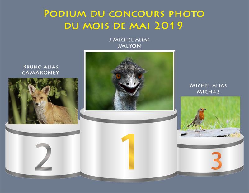 """Concours photo du mois de mai 2019 - Thème : """"Nos 30 millions d'amis"""" (terminé) Podium21"""