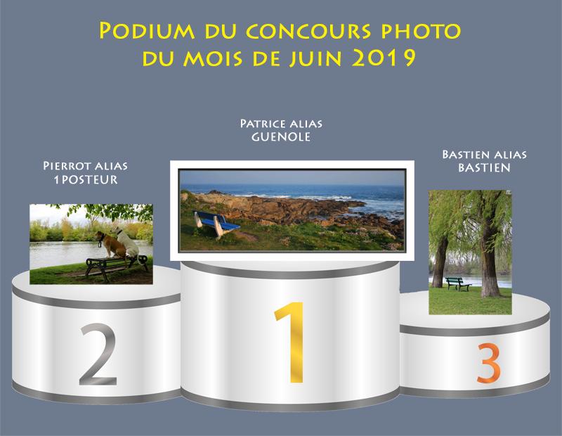"""Concours photo du mois de juin 2019 - Thème : """"Mettre en valeur un banc"""" (terminé) Podium22"""