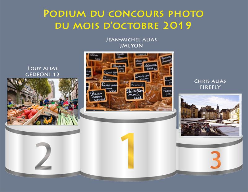 """Concours photo du mois d'octobre 2019 - Thème : """"Jour de marché"""" (terminé) Podium25"""