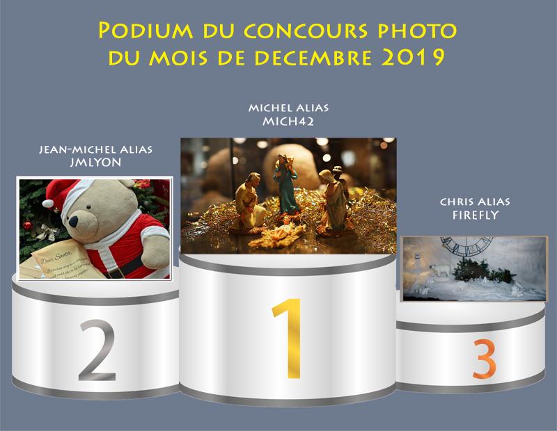 """Concours photo du mois de décembre 2019 - Thème : """"La magie de Noël"""" (terminé) Podium27"""