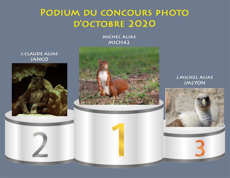 """Concours photo du mois d'octobre 2020 - Thème : """"Nos amis les bêtes"""" (terminé) Podium36"""