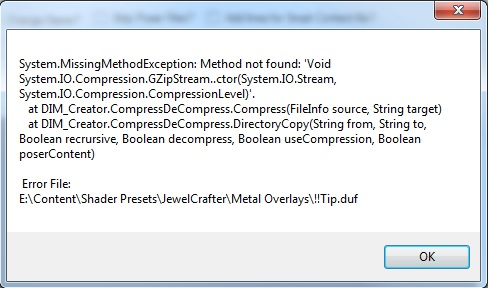 Error to create DIM (Both version 1.0.6.1 and 2.0) Cdds_e10