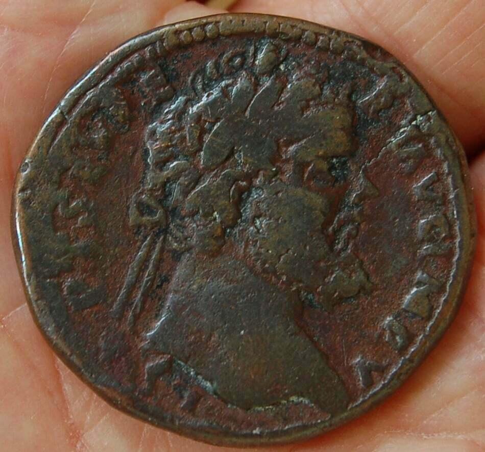 Septimius Severus Sestertius - barbaric imitation 111