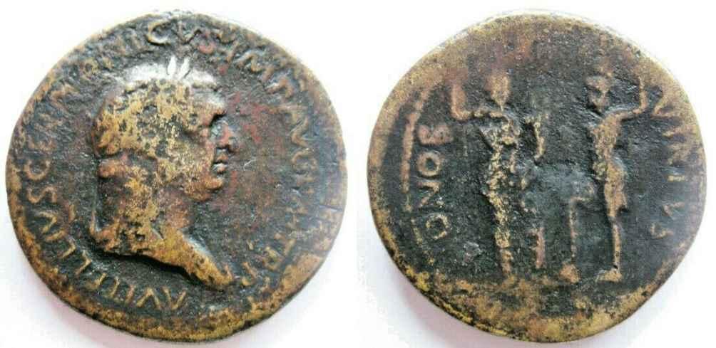 Vitellius Sesterce HONOS Vitell10
