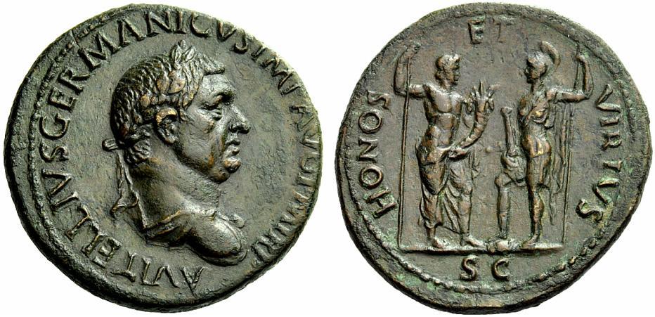 Vitellius Sesterce HONOS Vitell12