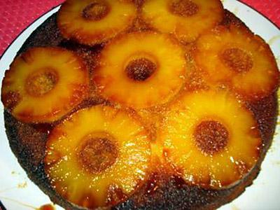 Ananas (gateau renversé)  Gateau12