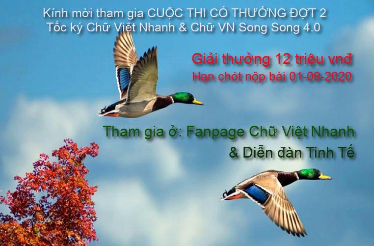 CUỘC THI CÓ THƯỞNG ĐỢT 2 Tốc ký Chữ Việt Nhanh & Chữ VN Song Song 4.0 Ctct-c10