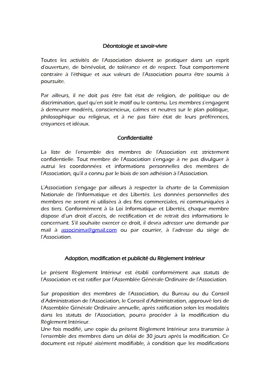 Règlement Intérieur Reglem17