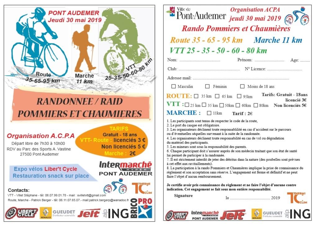 [Jeudi 30 mai 2019]  Rando Raid Pommiers & Chaumières 2019 de ACPA Pont-Audemer Pommie11