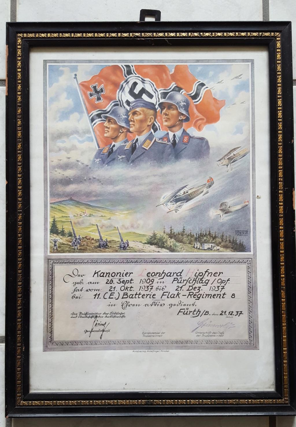 Certificat de fin de service militaire pré-guerre 20191113