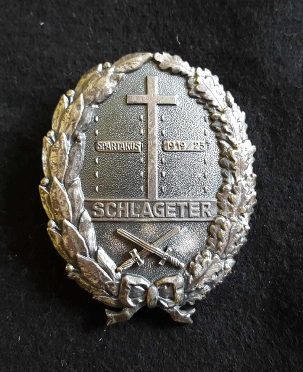 Un schlageterschild (corps francs allemands) 20200311