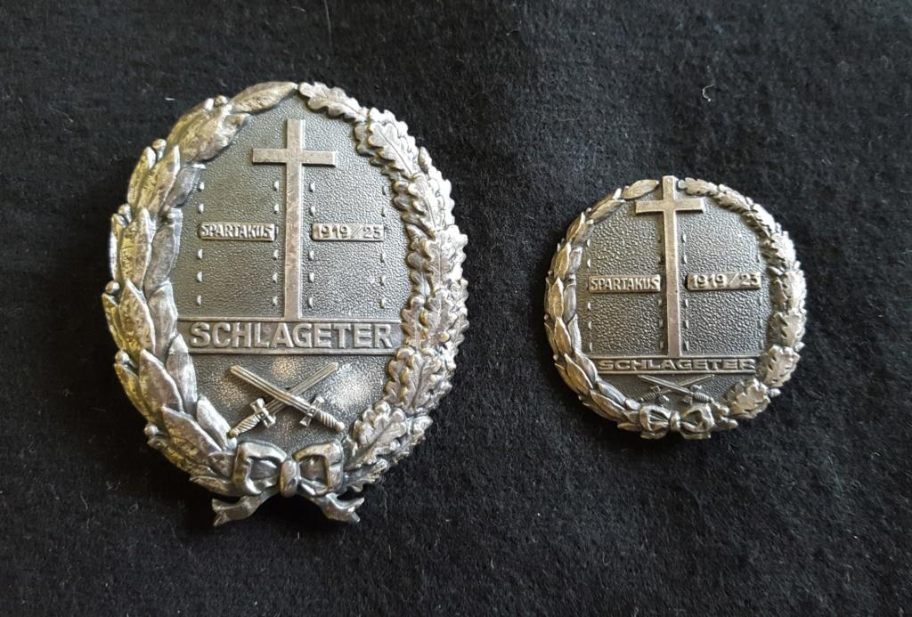 Un schlageterschild (corps francs allemands) 20200312