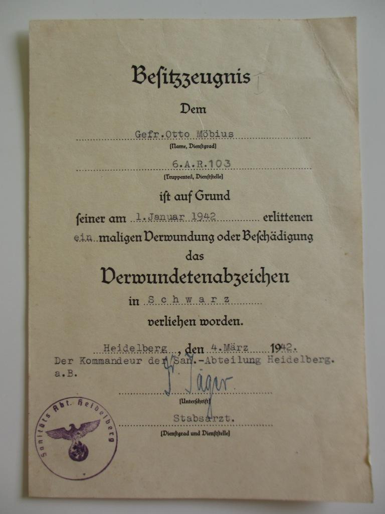 Lot de diplômes d'un artilleur blindé (panzer artillerie regiment 103) Img_6971