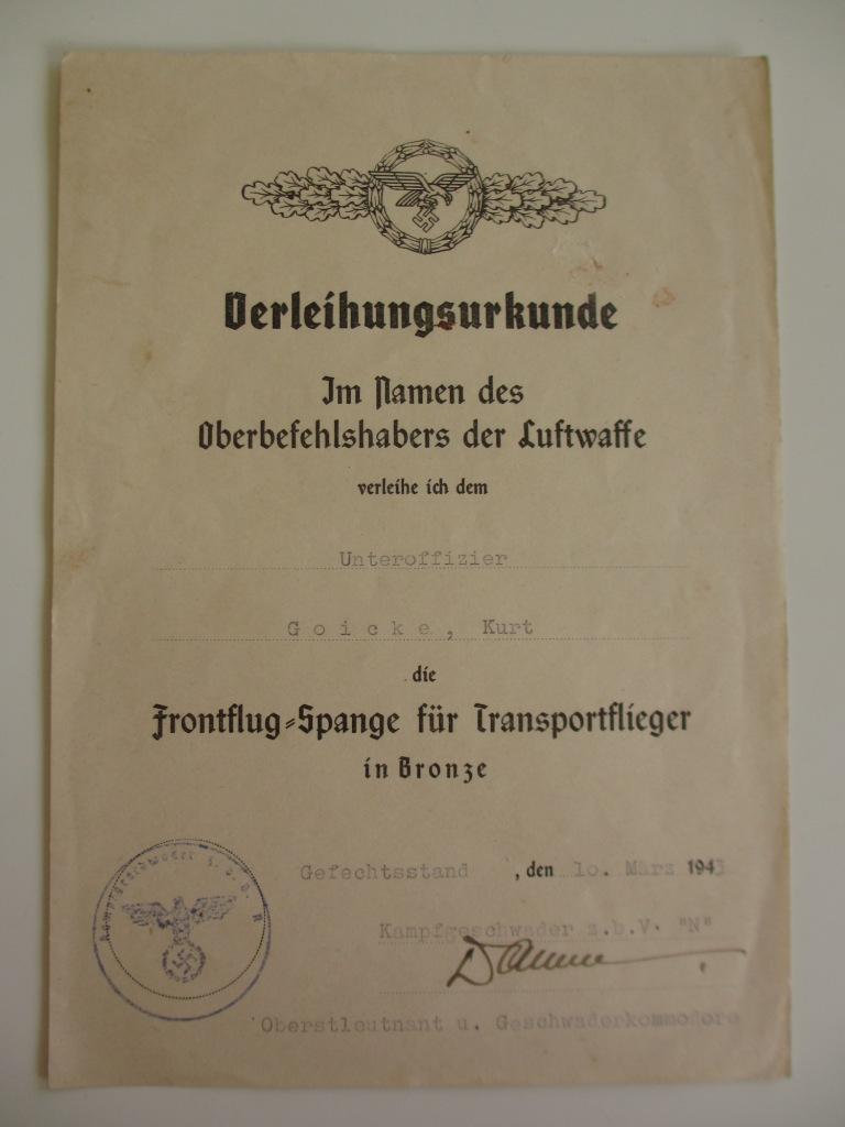 Groupe de documents d'un tireur de bord sur Me 110 Img_7014