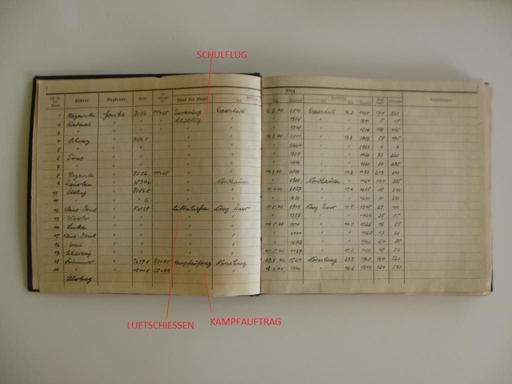 Groupe de documents d'un tireur de bord sur Me 110 Img_7016