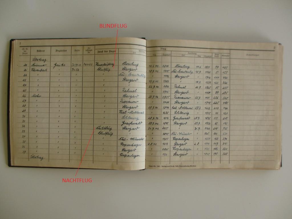 Groupe de documents d'un tireur de bord sur Me 110 Img_7017