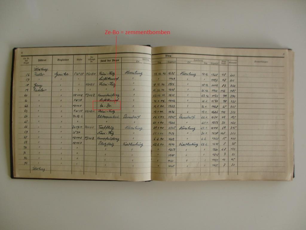 Groupe de documents d'un tireur de bord sur Me 110 Img_7019