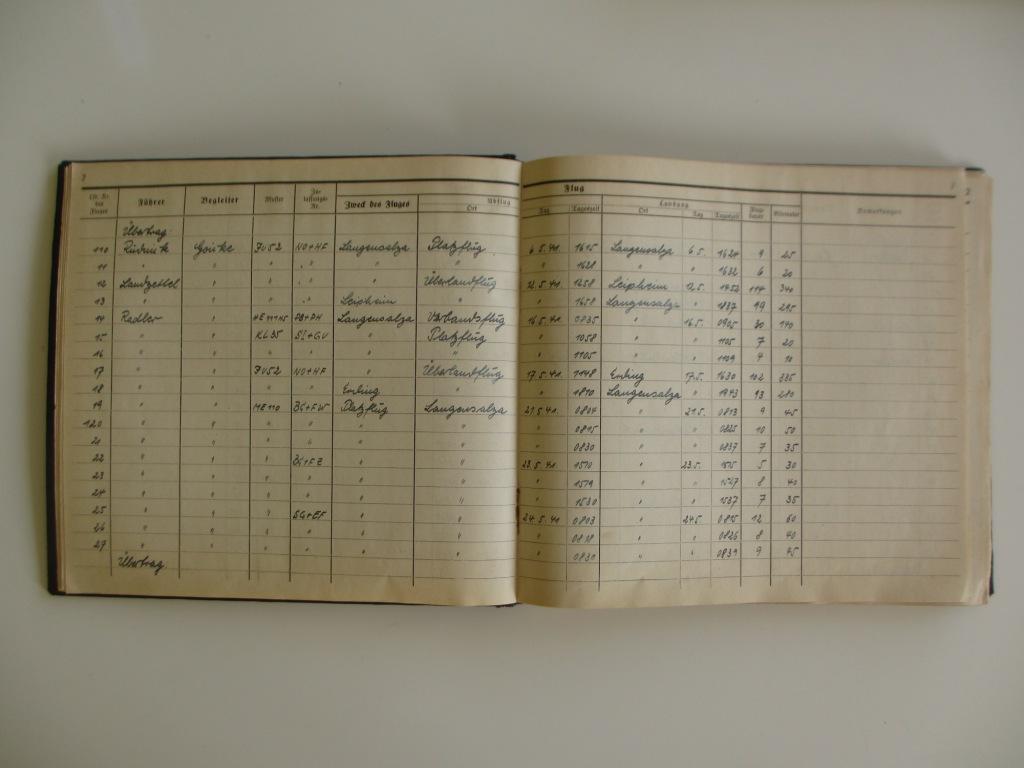Groupe de documents d'un tireur de bord sur Me 110 Img_7022