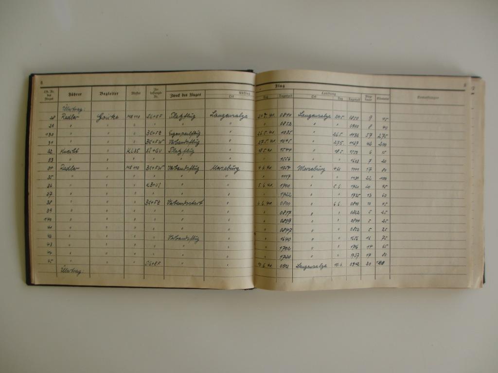 Groupe de documents d'un tireur de bord sur Me 110 Img_7023
