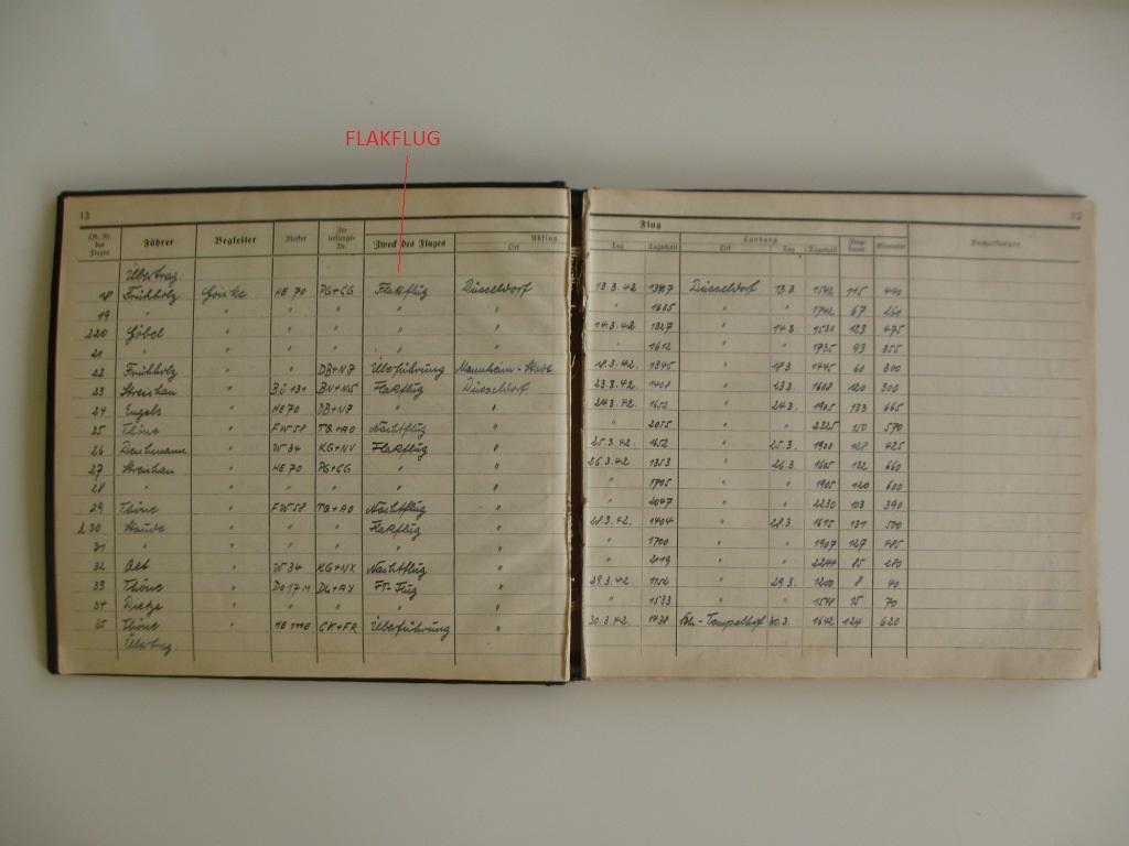 Groupe de documents d'un tireur de bord sur Me 110 Img_7027