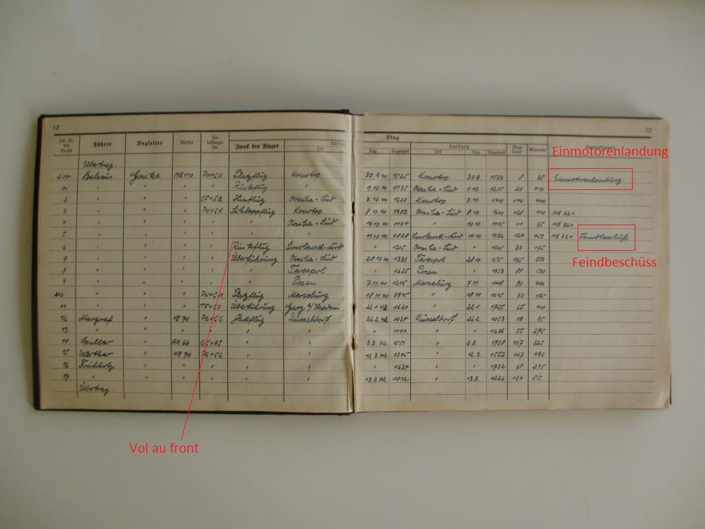 Groupe de documents d'un tireur de bord sur Me 110 Img_7028
