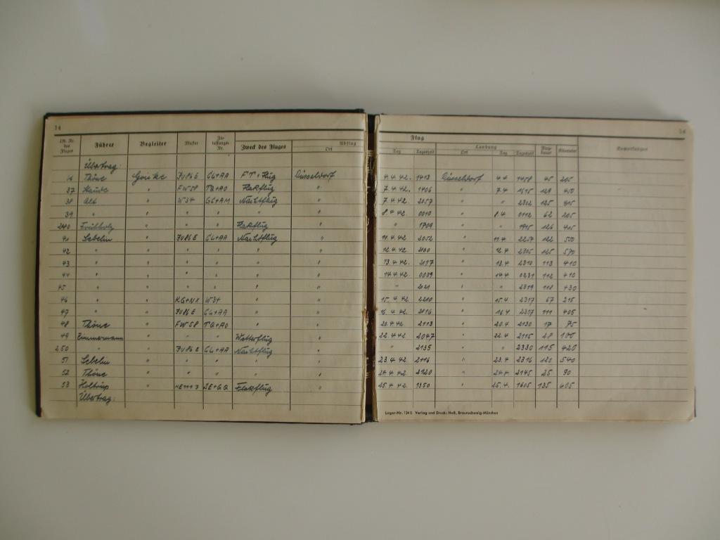 Groupe de documents d'un tireur de bord sur Me 110 Img_7029