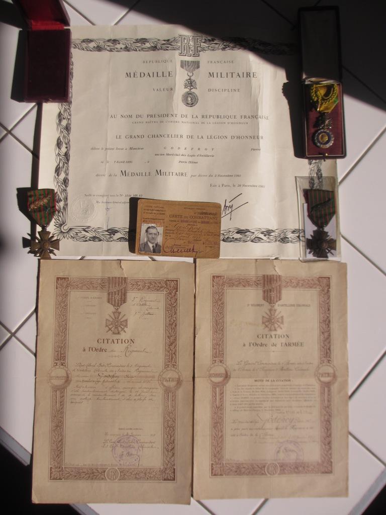 Groupe de documents d'un soldat français WW1 Img_7214