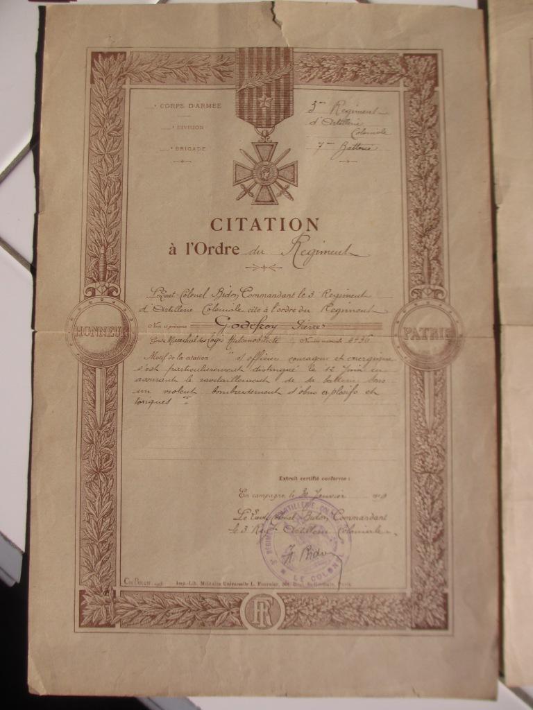 Groupe de documents d'un soldat français WW1 Img_7215