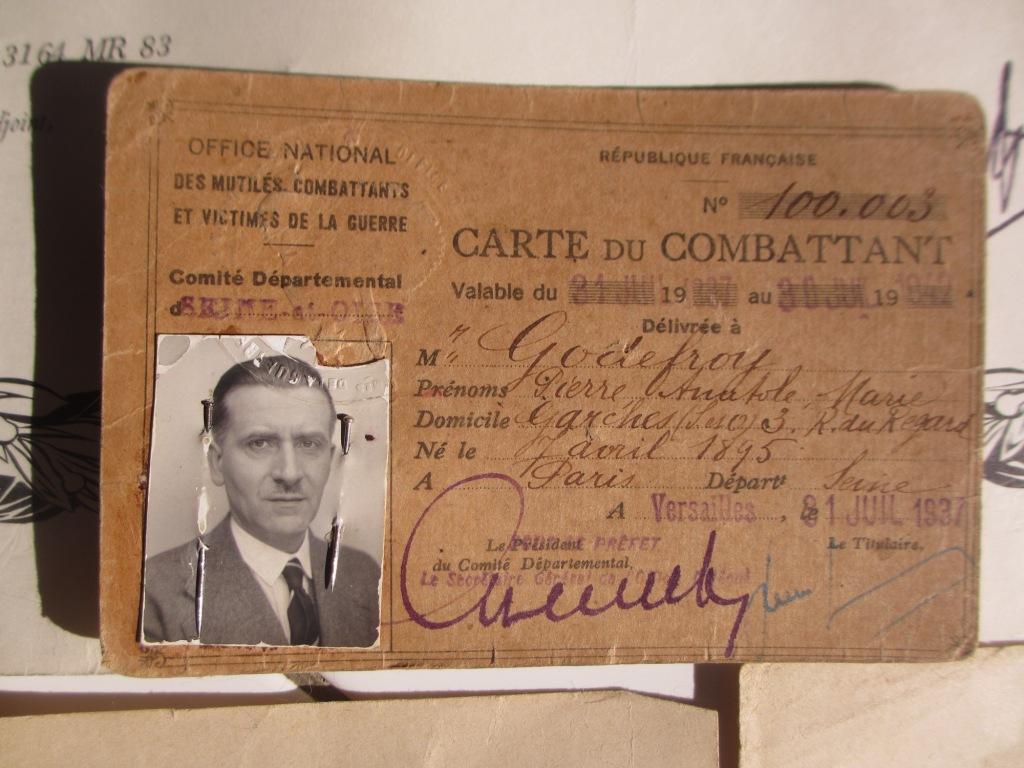 Groupe de documents d'un soldat français WW1 Img_7218