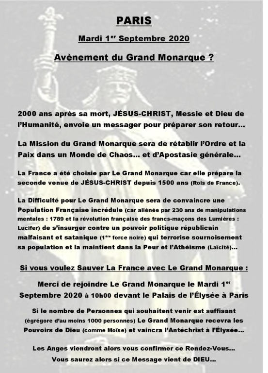 Projet de Libération de la France par le Grand Monarque ! - Page 2 Grandm10