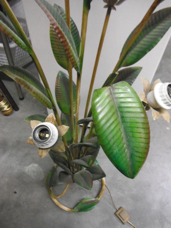 lampadaire vintage feuille caoutchouc  Dscf9412