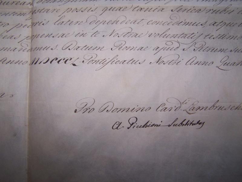 Ordre St Grégoire au Lieut de Vaisseau Louis Felix Camus de Martroy 000_1128