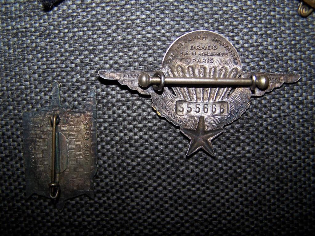 Baio Mauser 1915,brevet et insignes para et divers... 000_1251