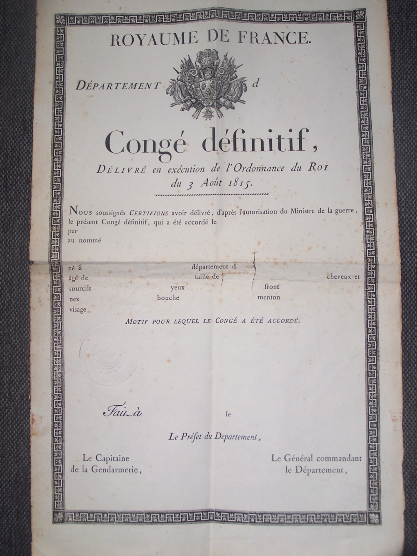 CJF, Gendarmerie 1900, FTPF, Royaume de France 1815.... 000_1763