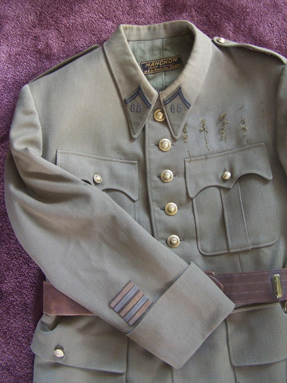 Veste col aiglon Lt-Colonel LAMBERT 1937 65e RI 000_2258