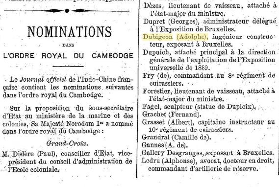 Un beau diplôme Ordre Royal du Cambodge et l'histoire de son titulaire... 2020-017