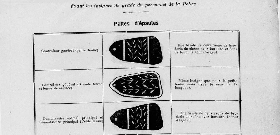 Casquette et broderie Sureté Générale de l'Indochine 1933-1945 ?? 2020-118