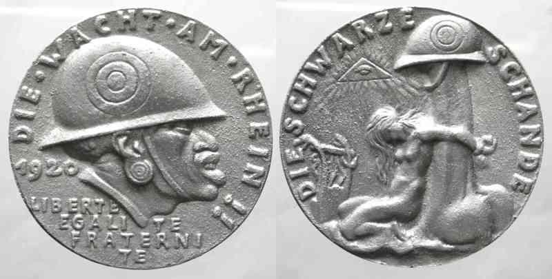 medaille allemande 1920 occupation de la Rhénanie....les prémices! 7899510