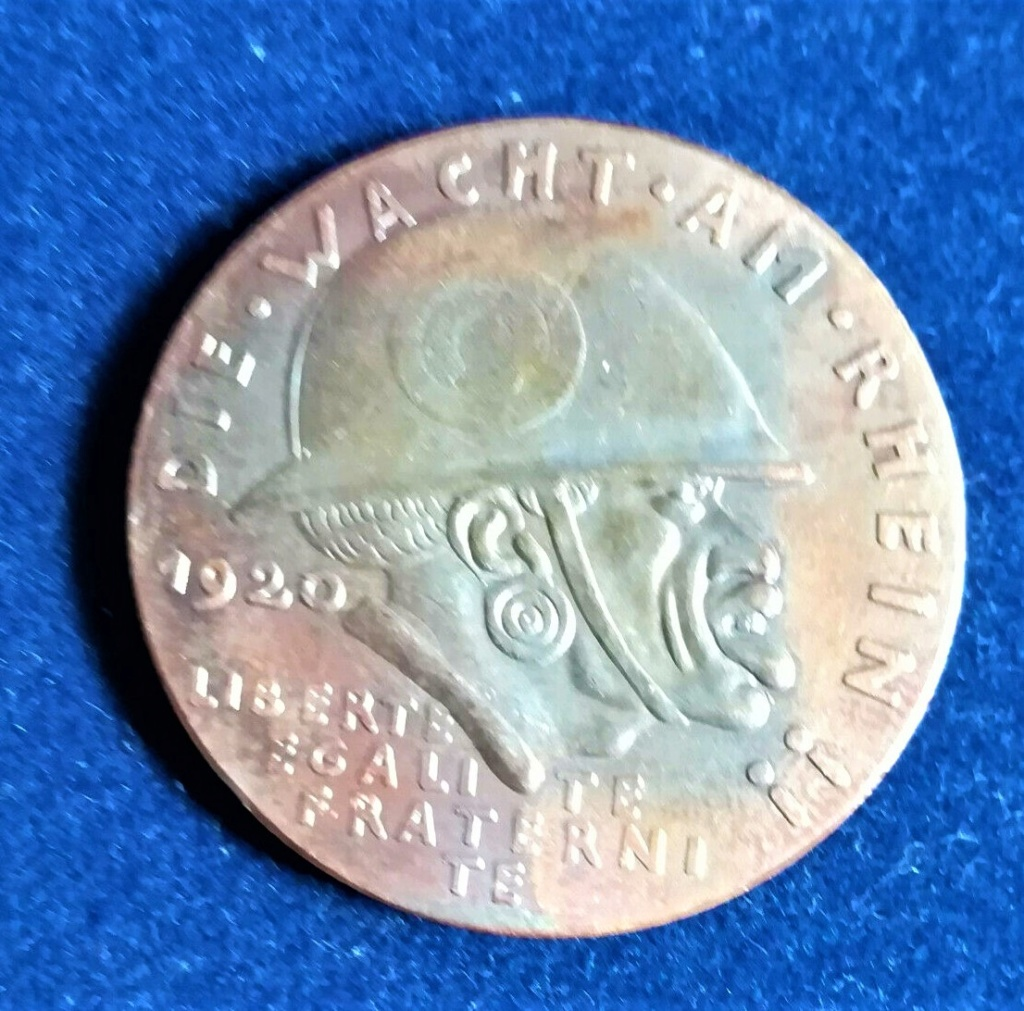 medaille allemande 1920 occupation de la Rhénanie....les prémices! Mzodai10