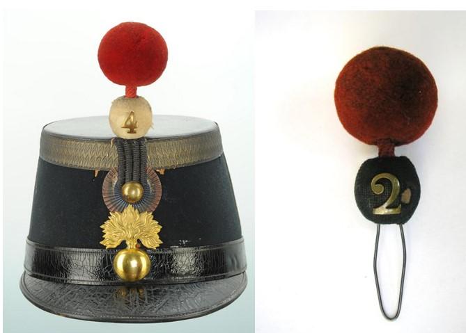 shako d'officier d'infanterie 1872 Pompon10
