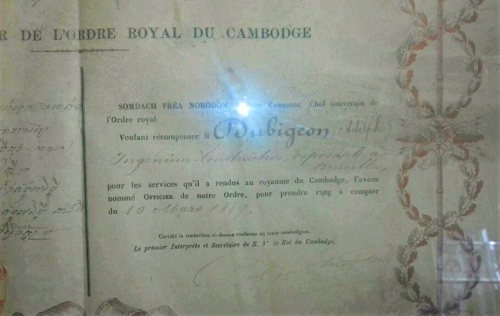 Un beau diplôme Ordre Royal du Cambodge et l'histoire de son titulaire... S-l16014