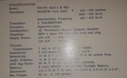 Зарубежные бытовые радиоприёмники Eei-210