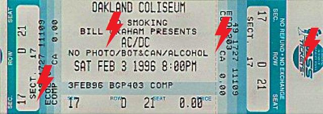 1996 /02 / 03 - USA, Oakland, Alameda County Coliseum Arena 03_02_10
