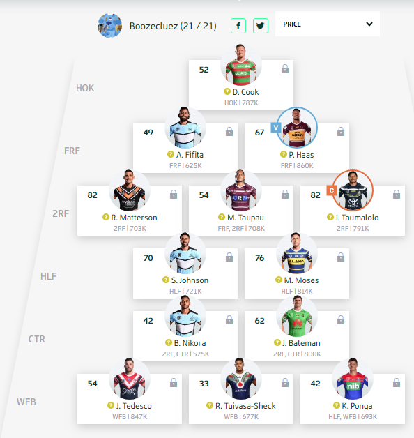 Trials and Tribulations of a NRL Fantasy Coach 2019 - End result 40th - Page 10 Round150