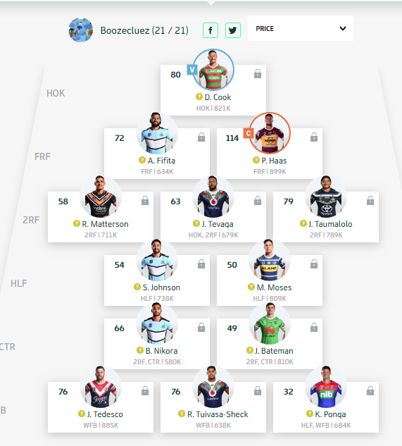 Trials and Tribulations of a NRL Fantasy Coach 2019 - End result 40th - Page 10 Round163