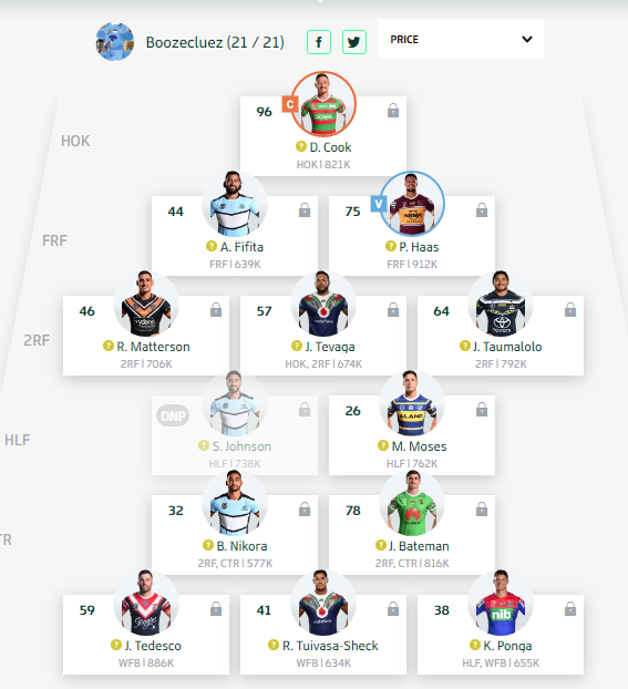 Trials and Tribulations of a NRL Fantasy Coach 2019 - End result 40th - Page 11 Round167